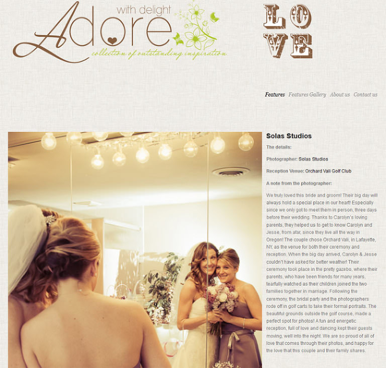Solas Studios on Adore With Delight