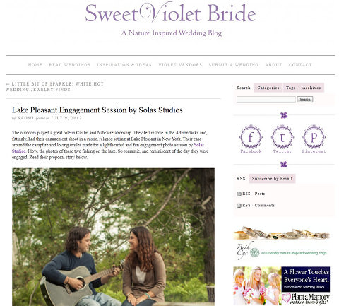 Solas Studios on Sweet Violet Bride