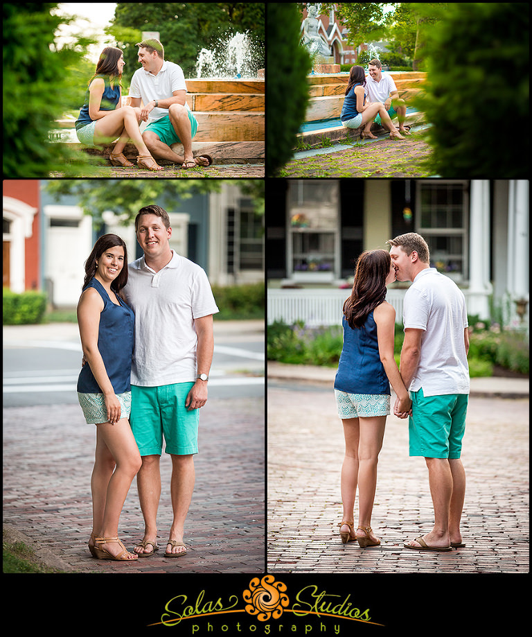 Engagement Photos Row Houses Pulteney Park Geneva