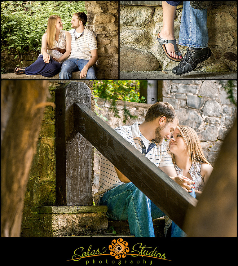 Engagement Session photos at Chittenango Falls