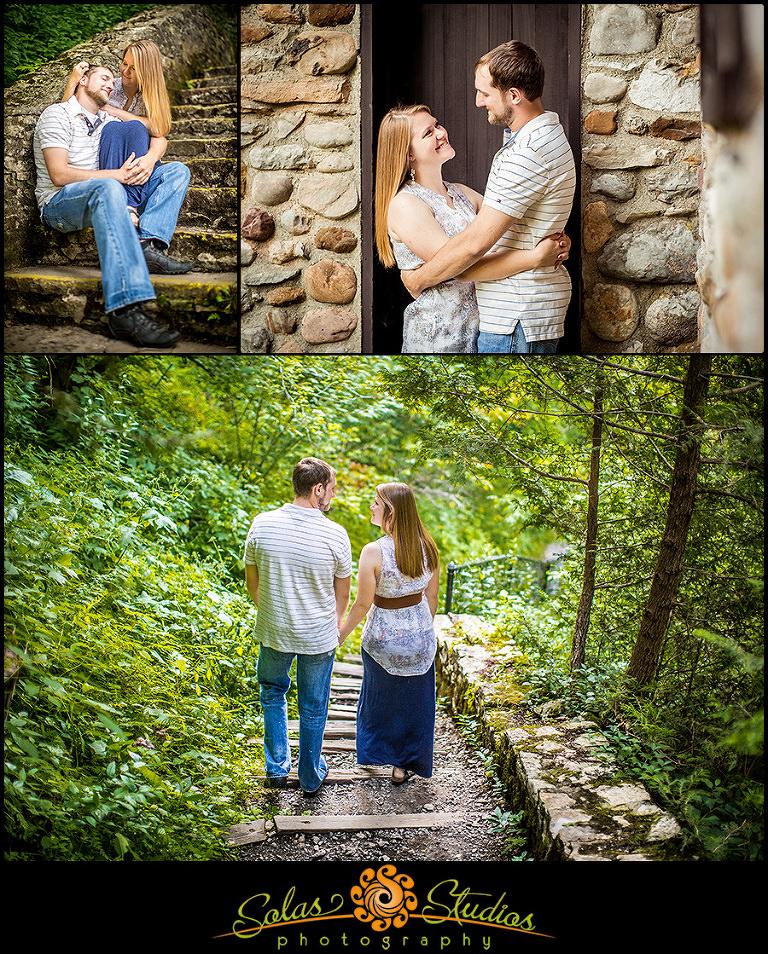 Engagement Session photos at Chittenango Falls