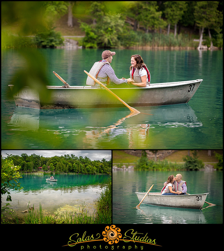 Engagement photos at Green Lakes