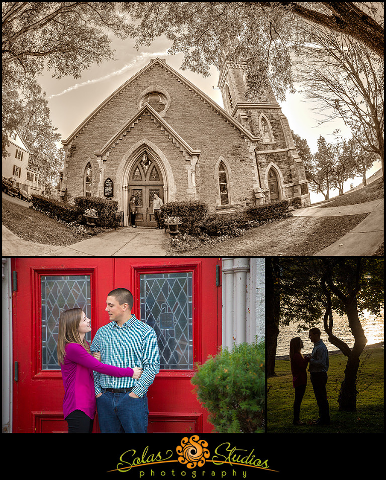 Engagement Session Photos in the Village of Skaneateles