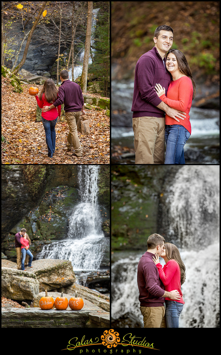Solas Studios Photography Engagement Session Photos at Fillmore Glen, Moravia NY