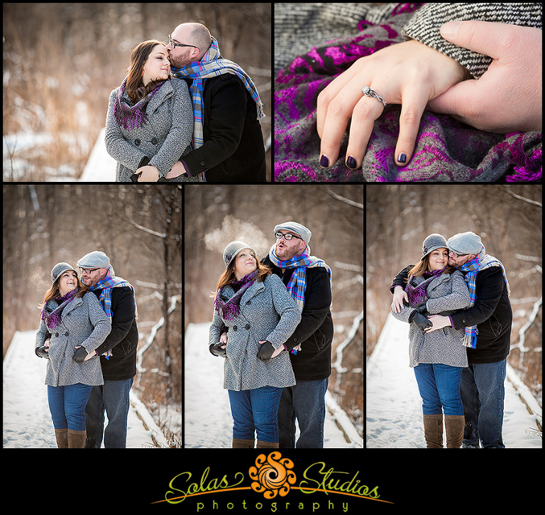 Solas Studios Photography Winter Engagement Photos at Butternut Creek