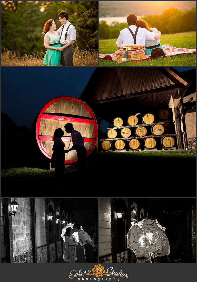 Solas Studios Engagement Session at Keuka Spring Winery