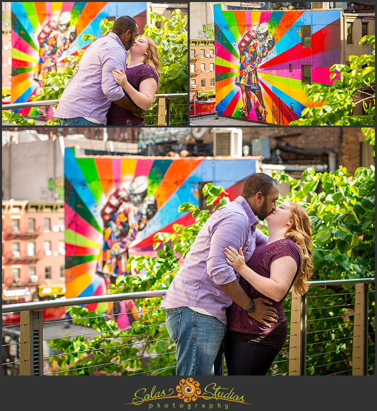 Solas Studios Engagement Session Highline, Brooklyn, NY