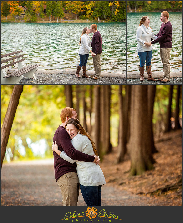 fayetteville green lakes state park engagement session at green lakes fayetteville ny ashley matt