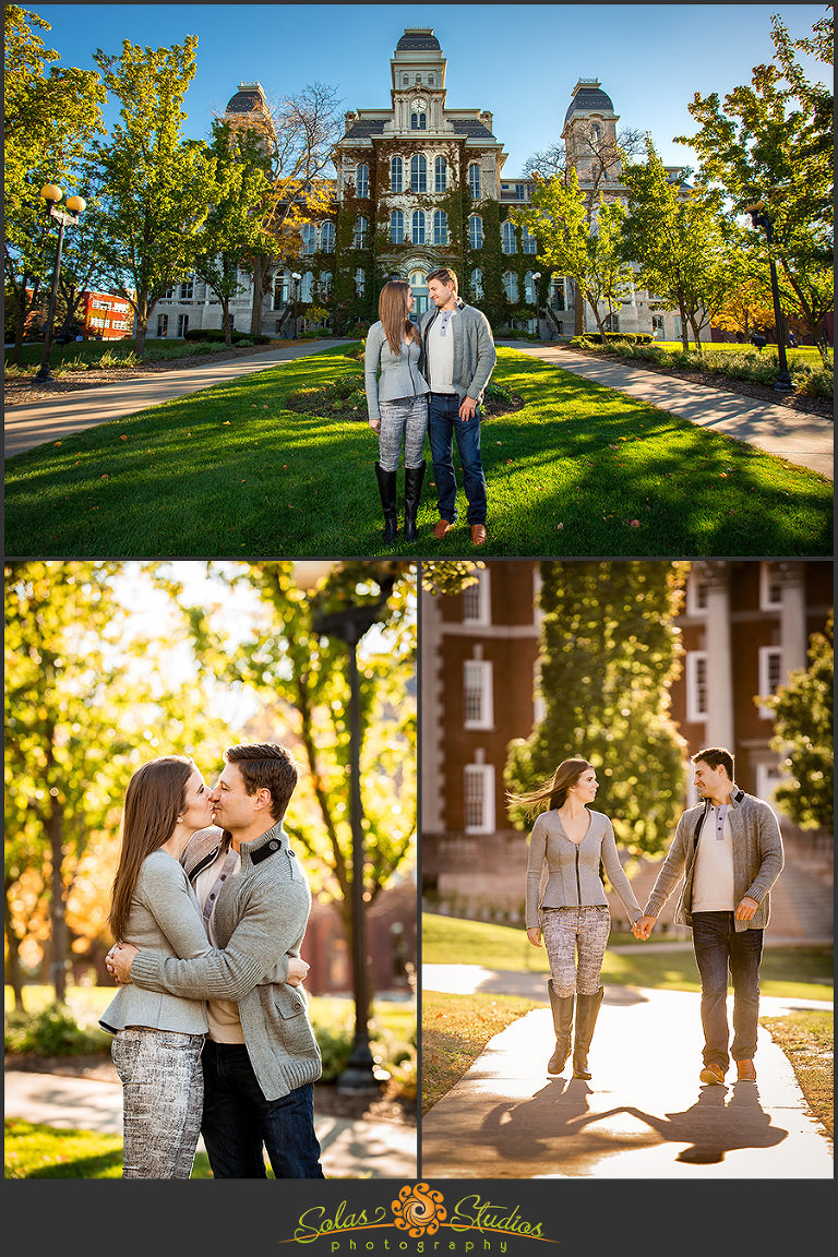 Solas Studios Engagement Session at Syracuse University, NY
