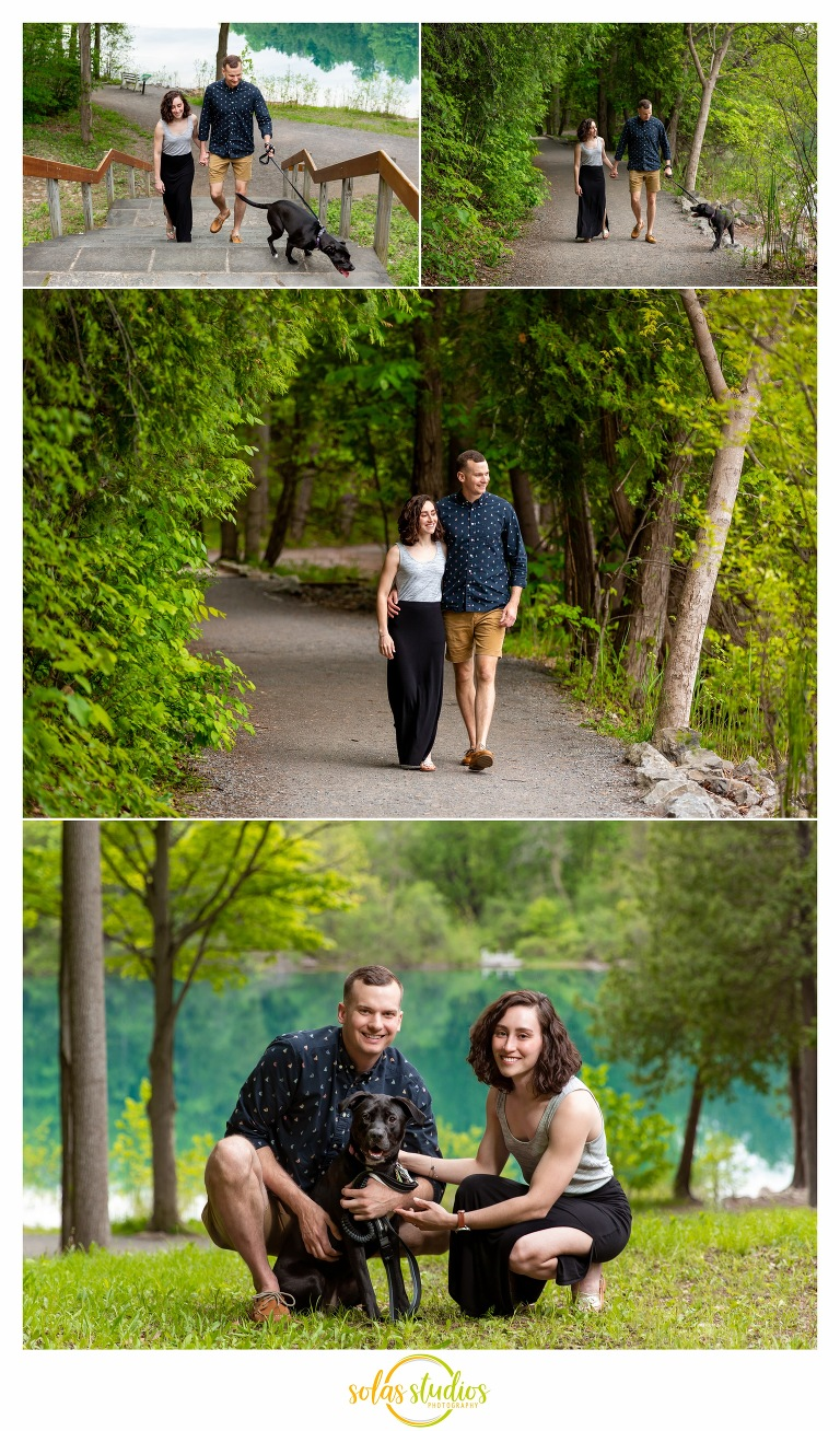 Green Lakes State Park Engagement Session Portraits Photography 1