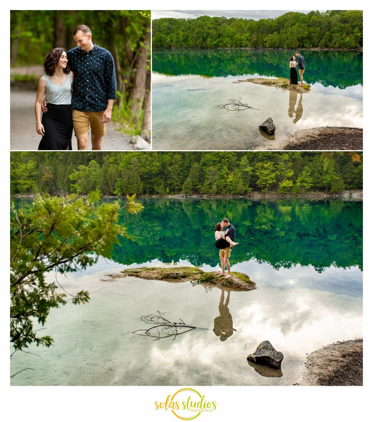 Green Lakes State Park Engagement Session Portraits Photography 2