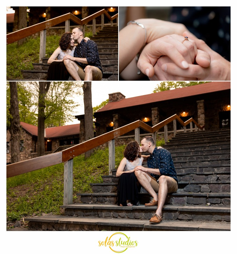Green Lakes State Park Engagement Session Portraits Photography 3